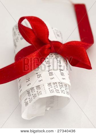 printed receipt as a gift
