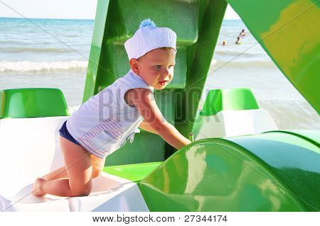 The kid at the beach