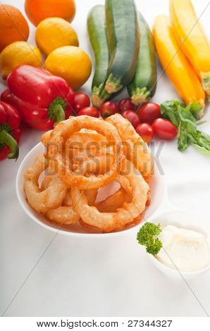 Golden Deep Fried Onion Rings