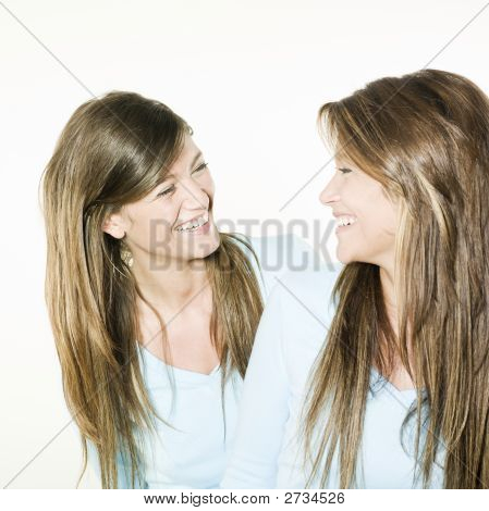Twin Sisters Woman Portrait