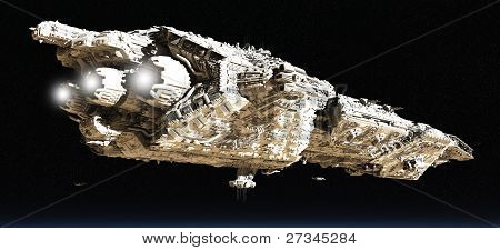Battle Cruiser in Low Orbit - 2
