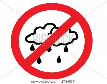 no rain clouds