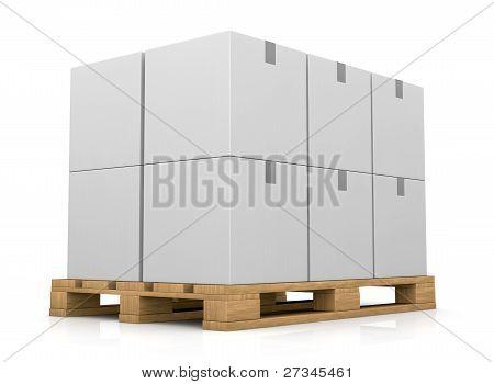 Paletten- und Karton