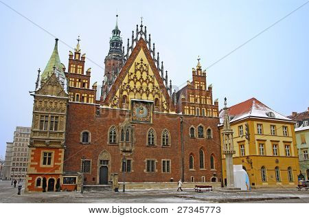 Market Square In Wroclaw, Poland
