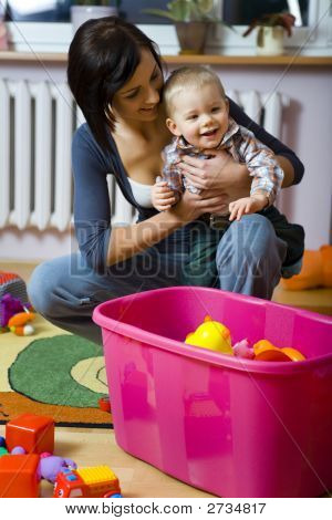Happy Child With Mother