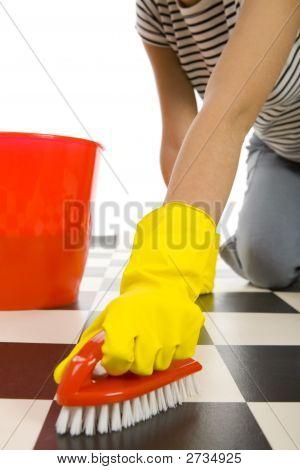 Scrubbing Floor
