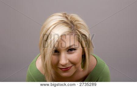 Blond Head Bowed