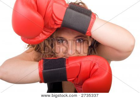 Boxing Woman Posing