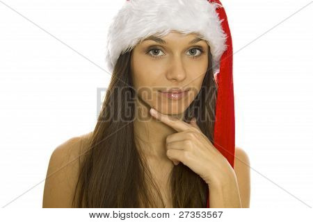 Christmas woman with smiling