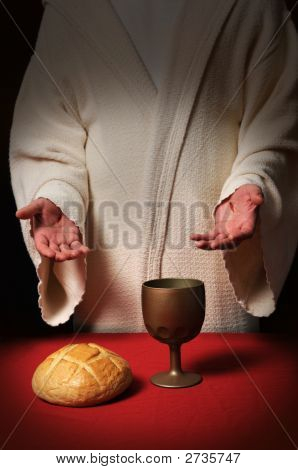 Jesus At Communion Table