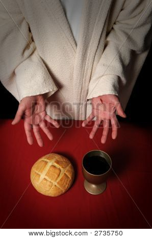 Jesus Offering Communion