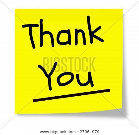 Yellow Thank You Note