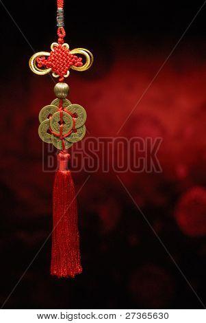 Chinese New Year Dekoration Closeup von Chinesisch Knot.