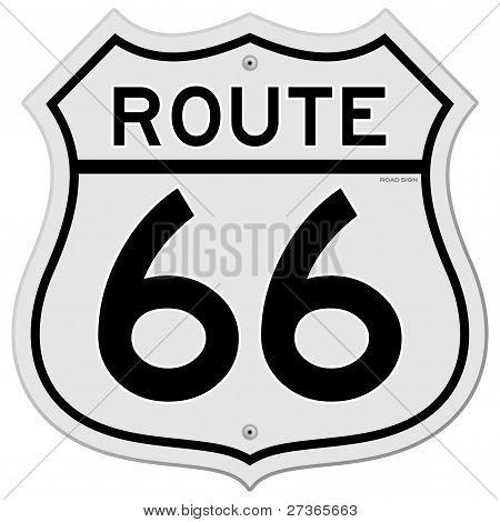 Sinal de rota 66