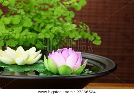 Spa still life with lotus.