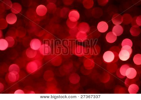 Abstract christmas lights as background