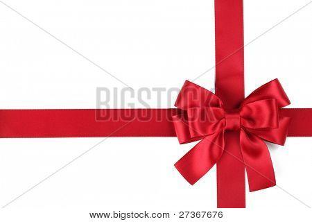 Red Ribbon mit Bogen auf weiß