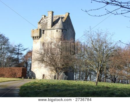 16Th Century Scottish Tower House Landscape