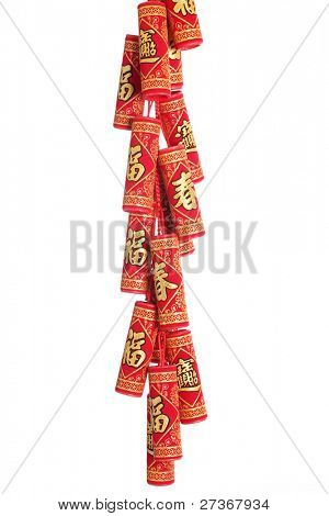 Firecrackers for chinese new year greeting