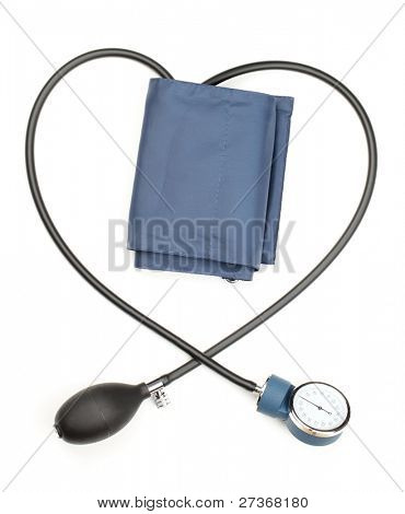 Blood pressure cuff,isolated on white.