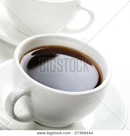 Closeup of  hot coffee