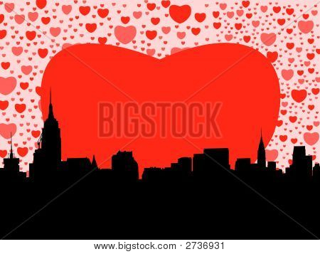 Midtown Manhattan With Hearts (Replacing: 2524499)