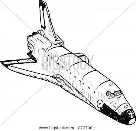 Space shuttle sketch