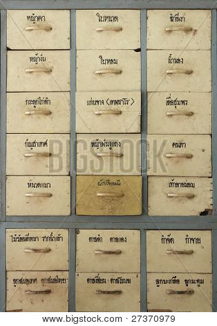 Herbal Medicine Drawers