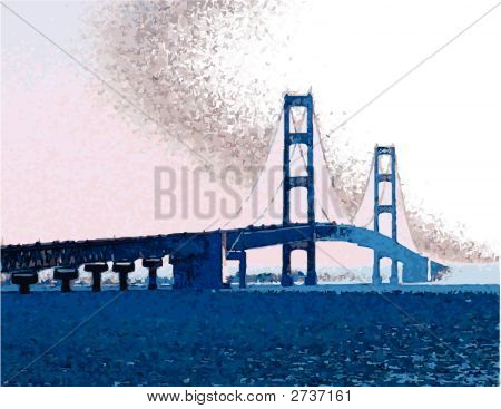 Machinac Bridge_Vector