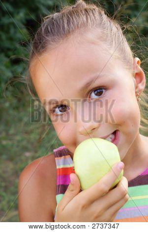 Sexy Girl Biting an Apple
