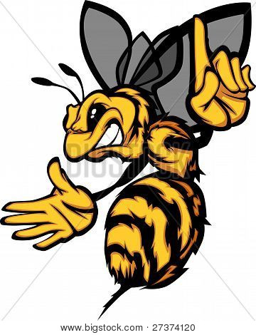 Hornet Bee Wasp Cartoon Vector Image