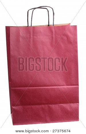 Shopping Claret, Claret-coloured Gift Bags And Apple Isolated
