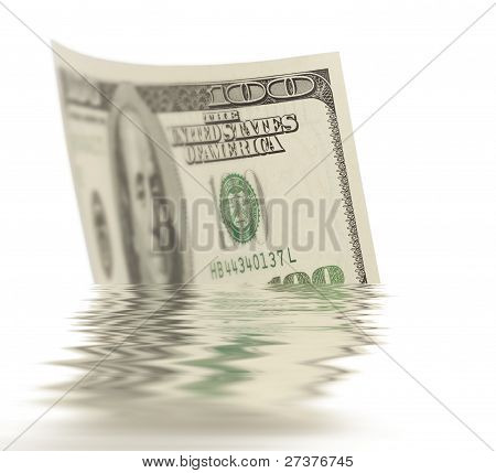 Dollar Floating On The Water