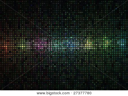 Multi-colored Background From Squares And Circles