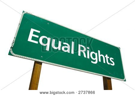 Equal Rights - Road Sign