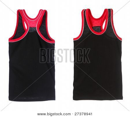 Two Views Of Sports Shirt Isolated On White.