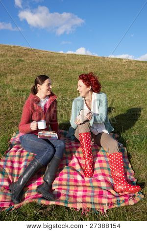 Women on country picnic