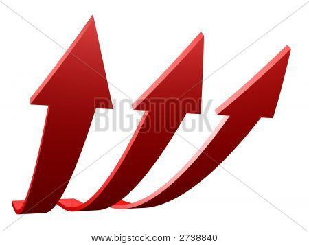 Flechas rojas para arriba