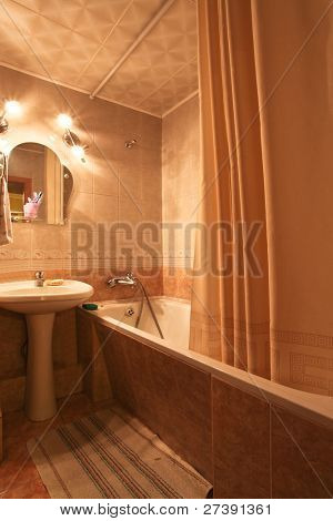 interior of luxury bathroom