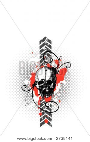 Vector Skulled, Grungy