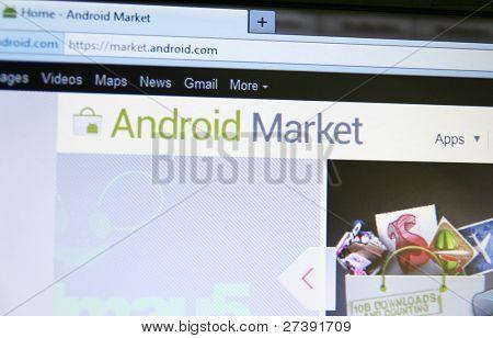 MOUNTAIN VIEW, CA - 9 de DEC: Android Market ha afectado a 10 billones de descargas! Para celebrar, son ofrecidos
