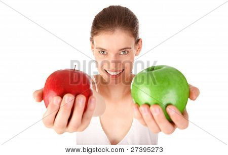 Girl Offering Apple