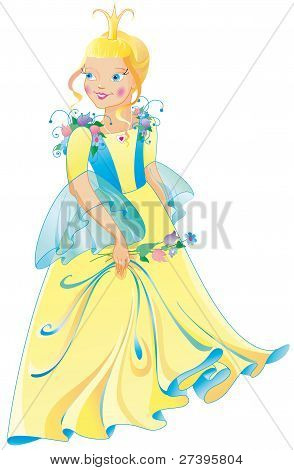The beautiful princess in a wonderful dress