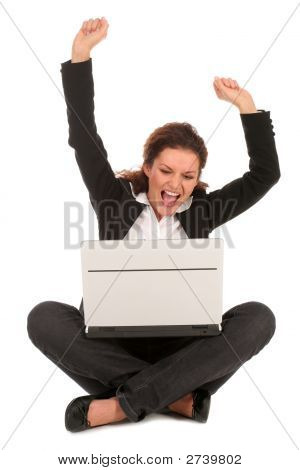 Overjoyed Businesswoman