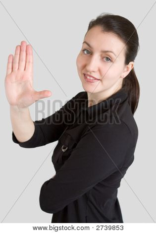 Business Lady With A Greeting