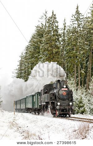 steam train near Hradsko, Czech Republic