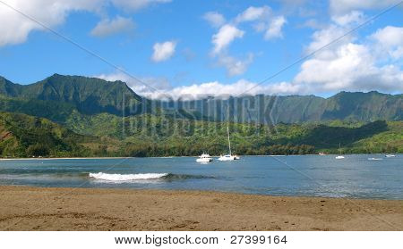 Hanalei Bay Beach, Kauai, Hawaii