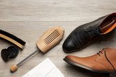 Shoe Care Of Leather Mens Shoes And Boots poster