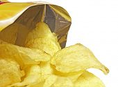 stock photo of potato chips  - Bag of Potato Chips - JPG