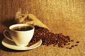 picture of coffee grounds  - coffee - JPG